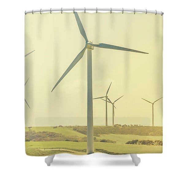 Retro Rotation Shower Curtain