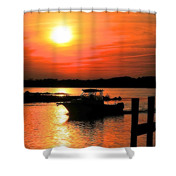 Return At Sunset Shower Curtain