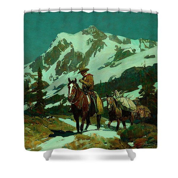 Return From The Hunt Shower Curtain