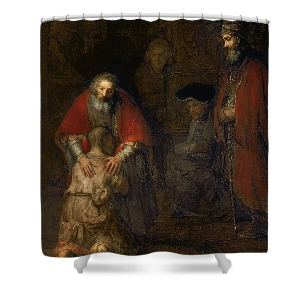 Return Of The Prodigal Son Shower Curtain