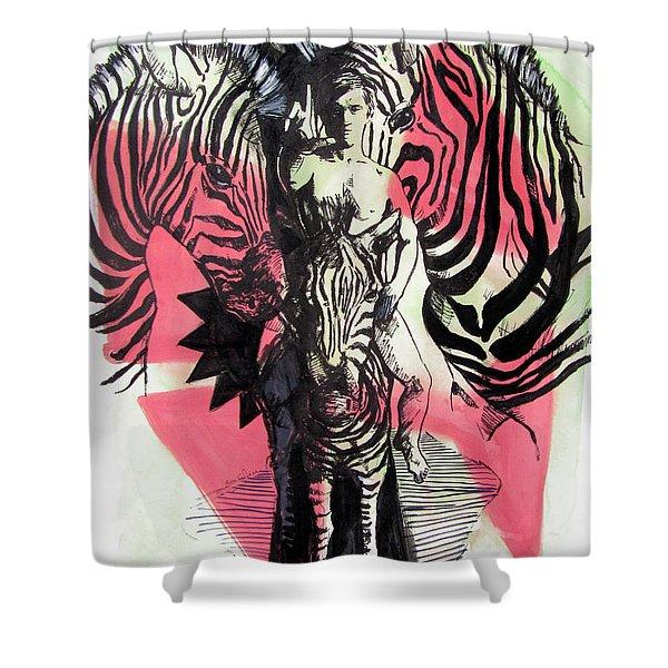 Return Of Zebra Boy Shower Curtain