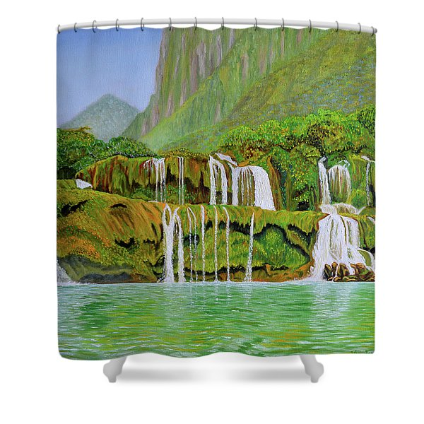 Returned To Paradise Shower Curtain