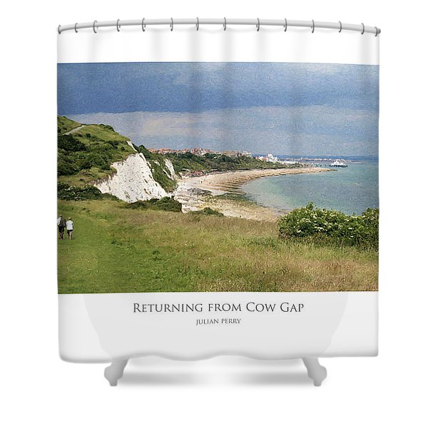 Returning From Cow Gap Shower Curtain