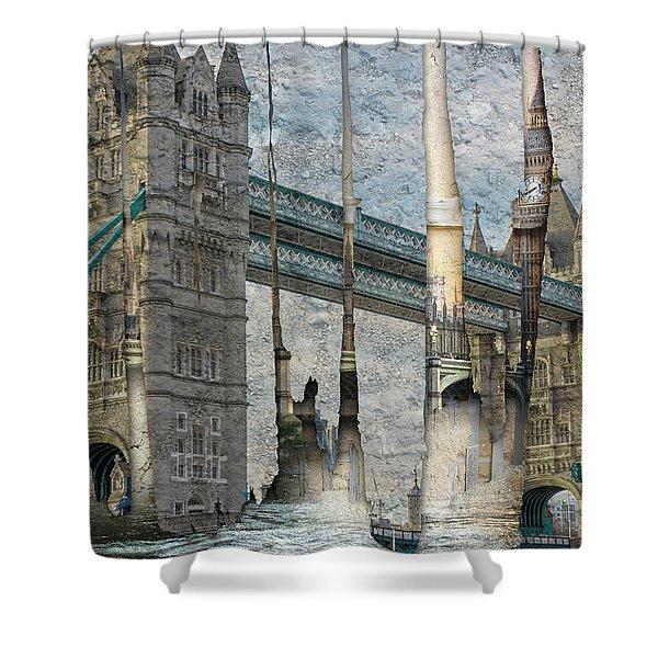 Revealing London Shower Curtain