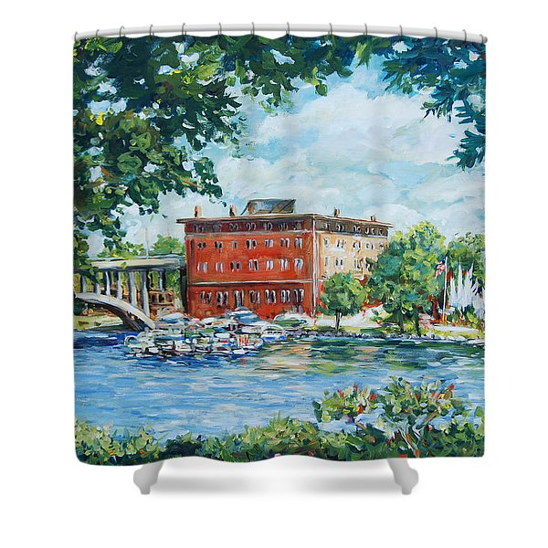 Rever's Marina Shower Curtain