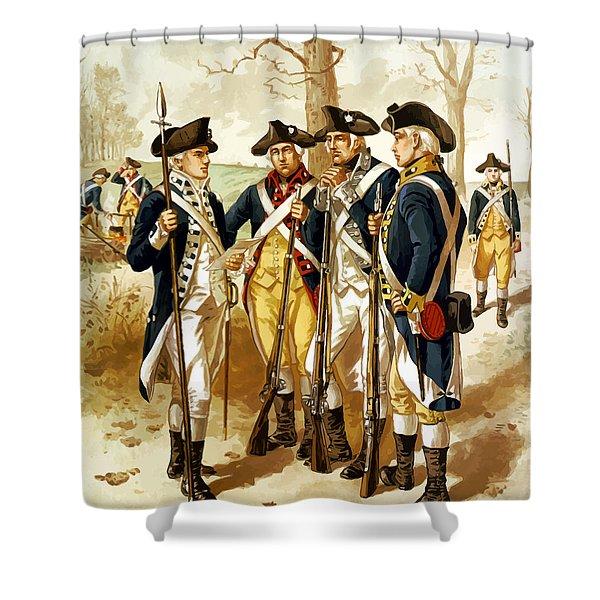 Revolutionary War Infantry Shower Curtain
