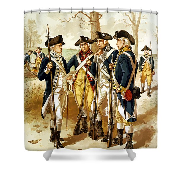 Revolutionary War Infantry Shower Curtain