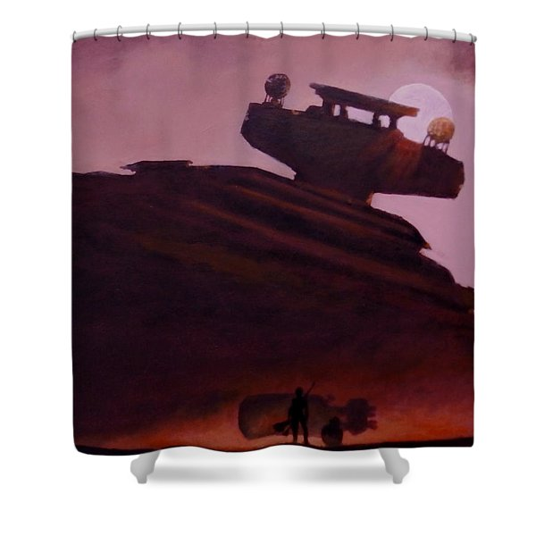 Rey Looks On Shower Curtain