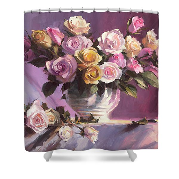 Rhapsody Of Roses Shower Curtain