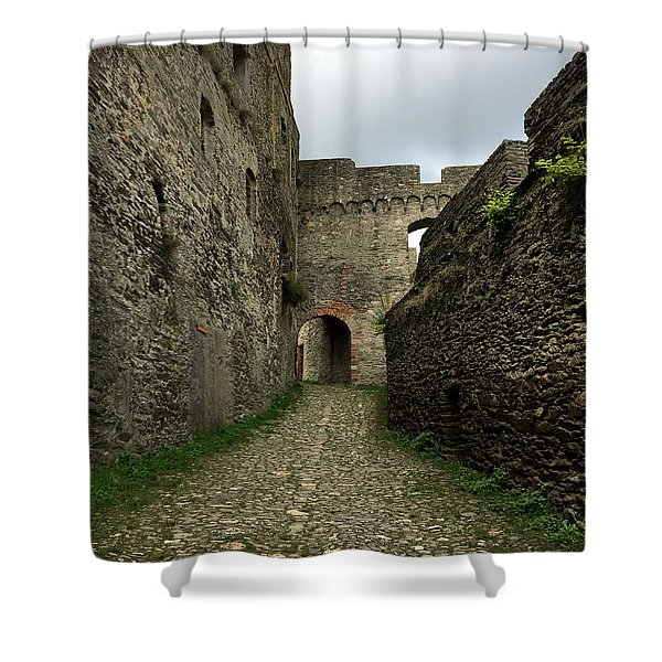 Rheinfels Castle Walk Shower Curtain