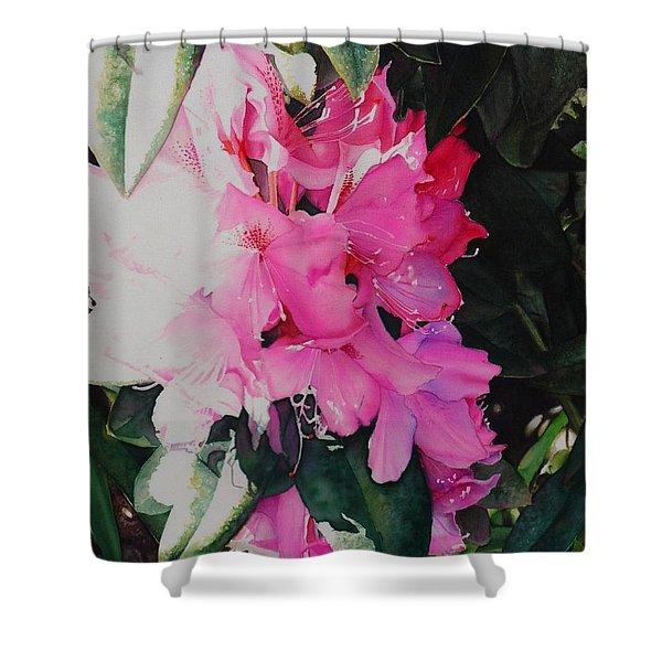 Rhodies Shower Curtain