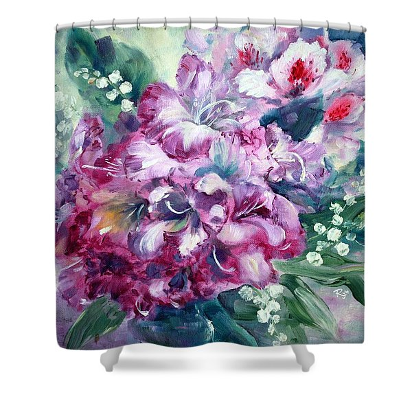 Rhododendron And Lily Of The Valley Shower Curtain