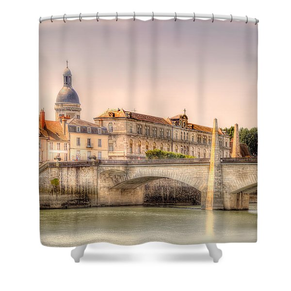 Bridge Over The Rhone River, France Shower Curtain