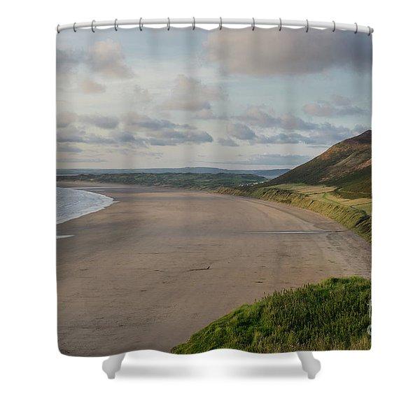Rhossili Bay, South Wales Shower Curtain