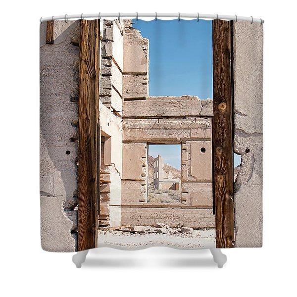 Rhyolite Through Windows Shower Curtain