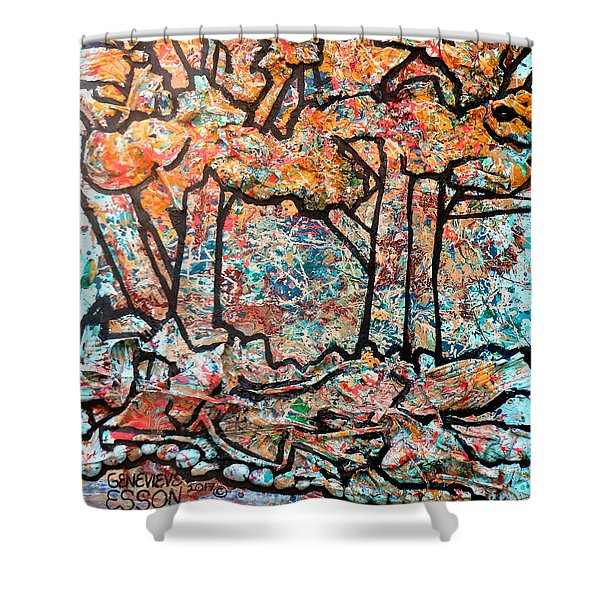 Rhythm Of The Forest Shower Curtain