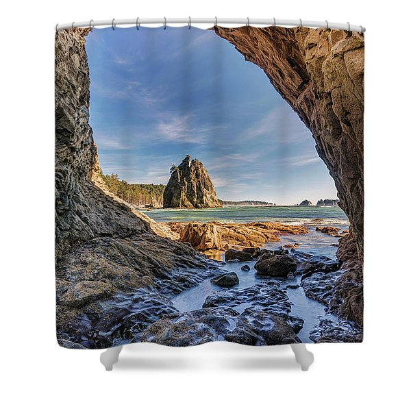 Rialto Beach Sea Arch Shower Curtain