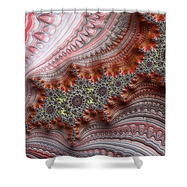 Ribbon Candy Crystals Shower Curtain