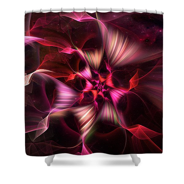 Ribbon Candy Rose Shower Curtain