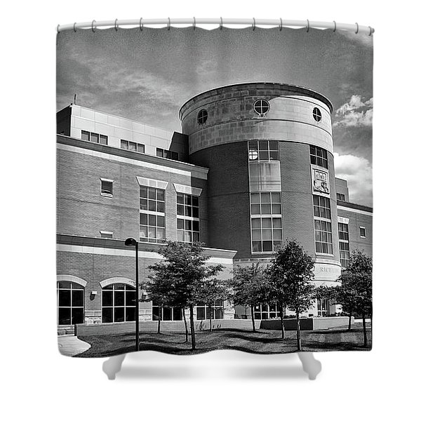 Rice Library B W Shower Curtain