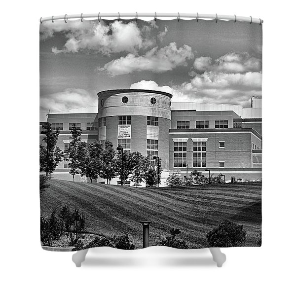 Rice Library II B W Shower Curtain