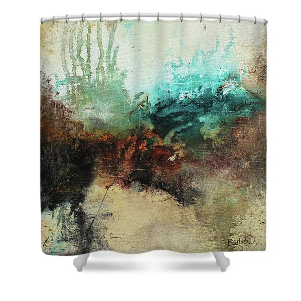 Rich Earth Tones Abstract Not For The Faint Of Heart Shower Curtain