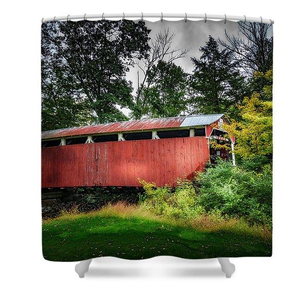 Richards Covered Bridge Shower Curtain