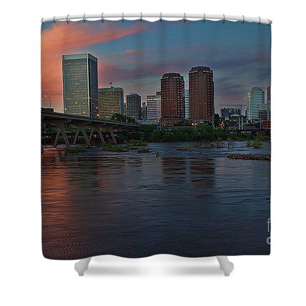 Richmond Dusk Skyline Shower Curtain