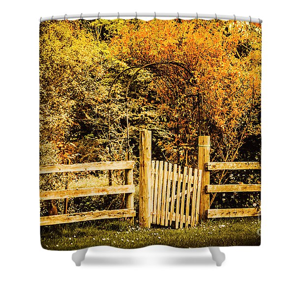 Rickety Countryside Shower Curtain