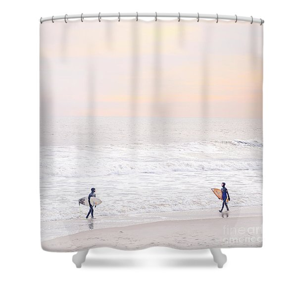 Riders Of The Sea Shower Curtain