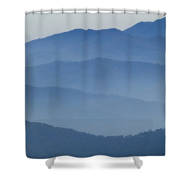 Ridgelines Great Smoky Mountains Shower Curtain