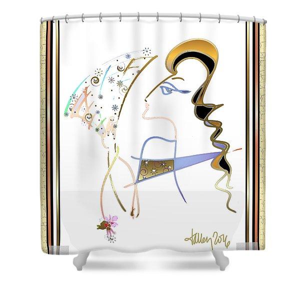 Ridicule - Madame De Blayac Shower Curtain