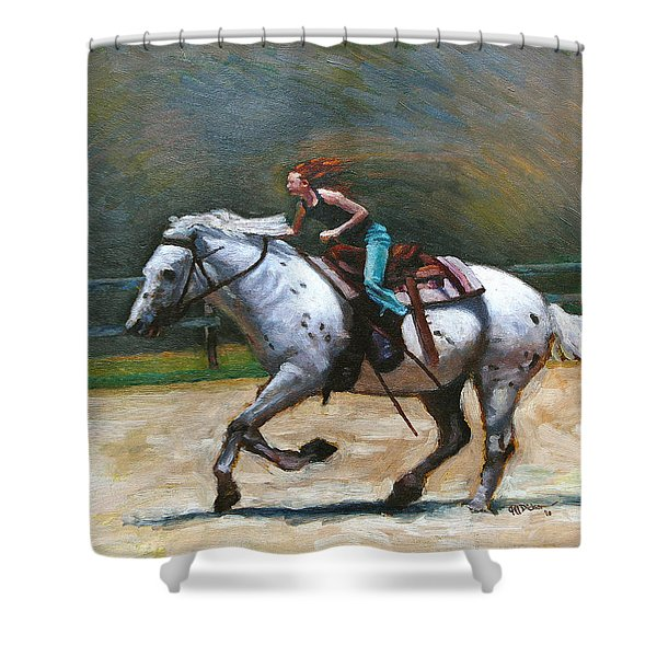Riding Dollar Shower Curtain