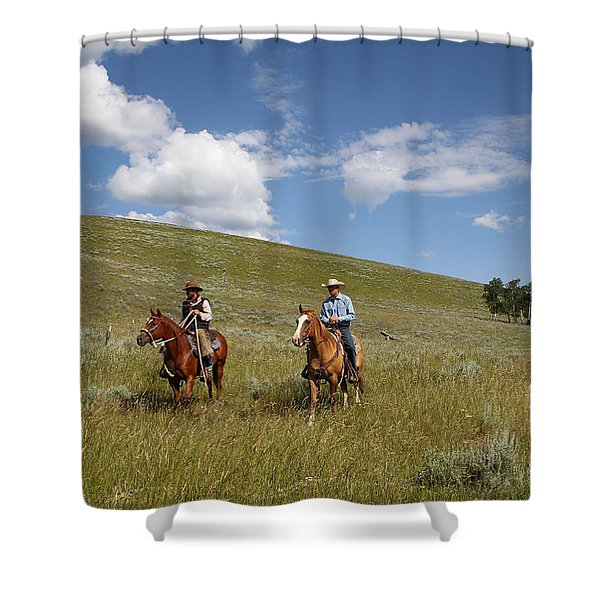 Riding Fences Shower Curtain