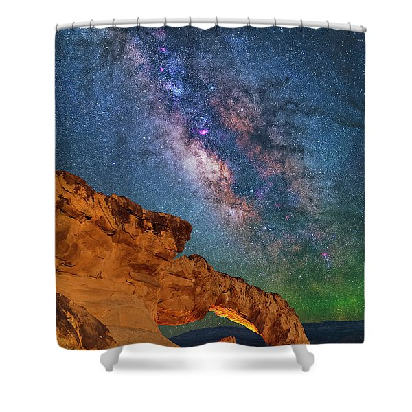 Riding Over The Arch Shower Curtain