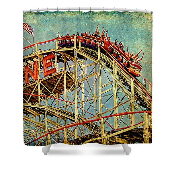 Riding The Cyclone Shower Curtain