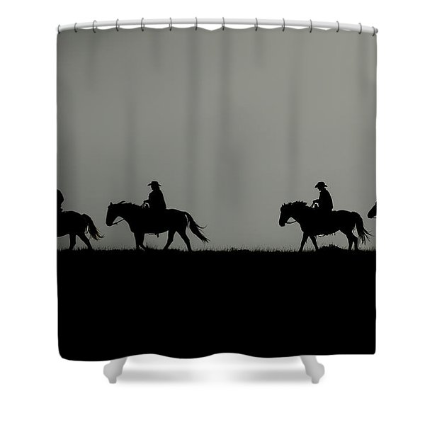 Riding The Range At Sunrise Shower Curtain