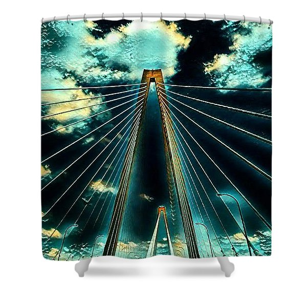 Riding The Ravenel Shower Curtain