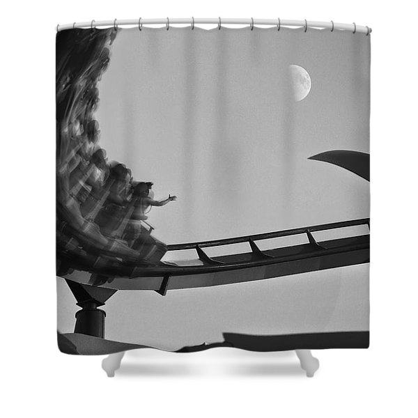Riding To The Moon Shower Curtain