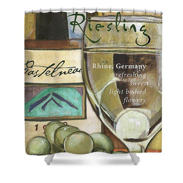 Riesling Wine Shower Curtain