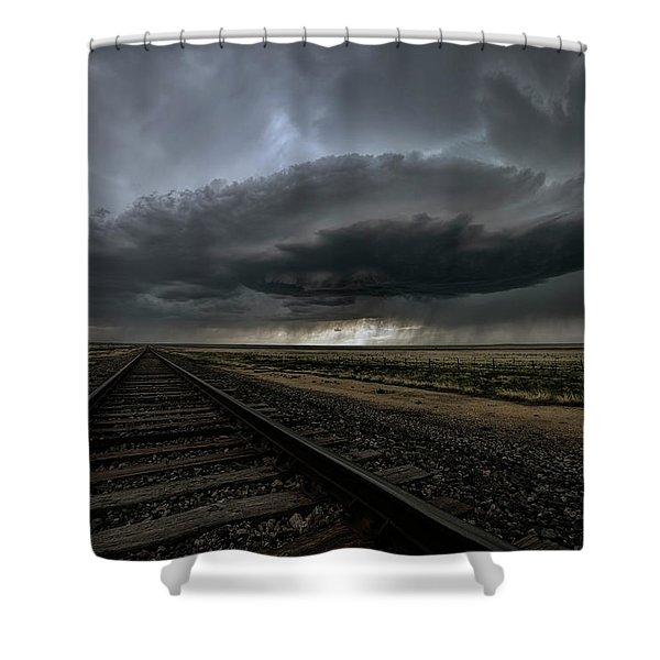 Right On Track Shower Curtain