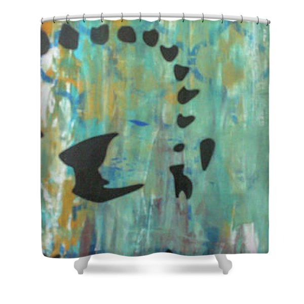 Right Side Of My Heart Shower Curtain