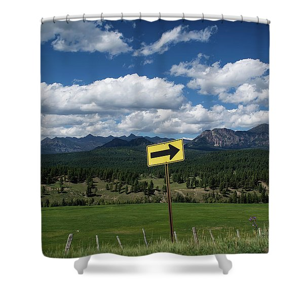 Shower Curtain featuring the photograph Right This Way by Jason Coward