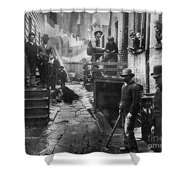 Riis: Bandits Roost, 1887 Shower Curtain