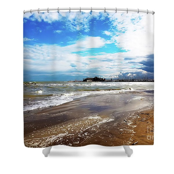 Rimini After The Storm Shower Curtain