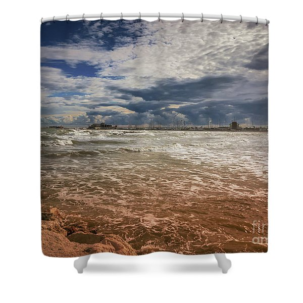 Rimini Storm Shower Curtain