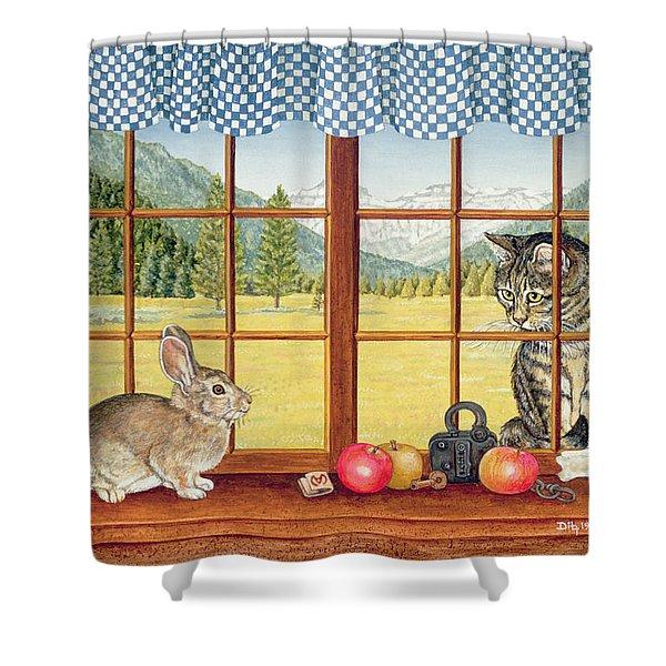 Rimrock Cottontail Shower Curtain