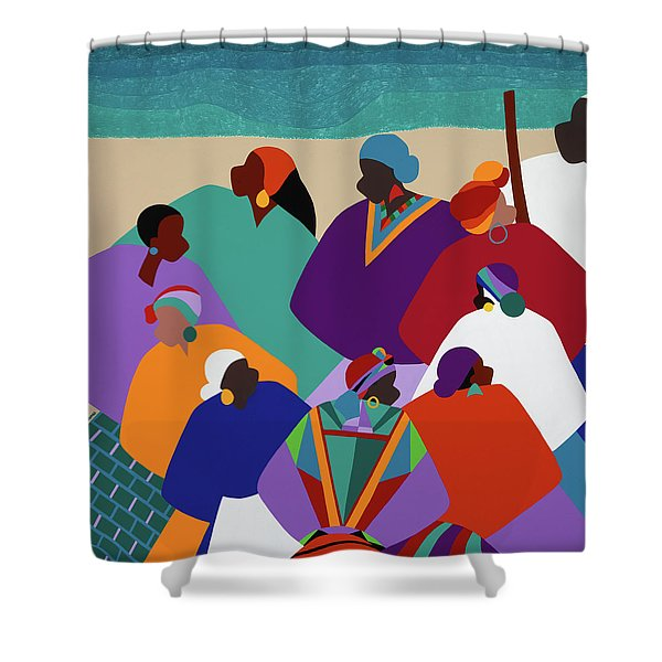 Ring Shout Gullah Islands Shower Curtain