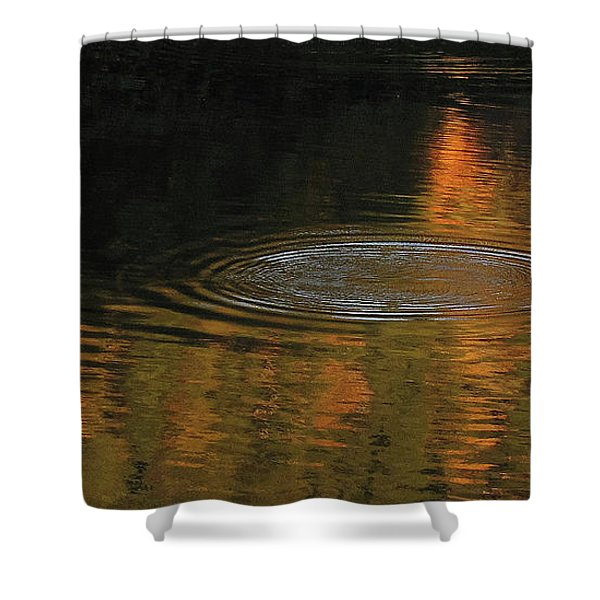Rings And Reflections Shower Curtain