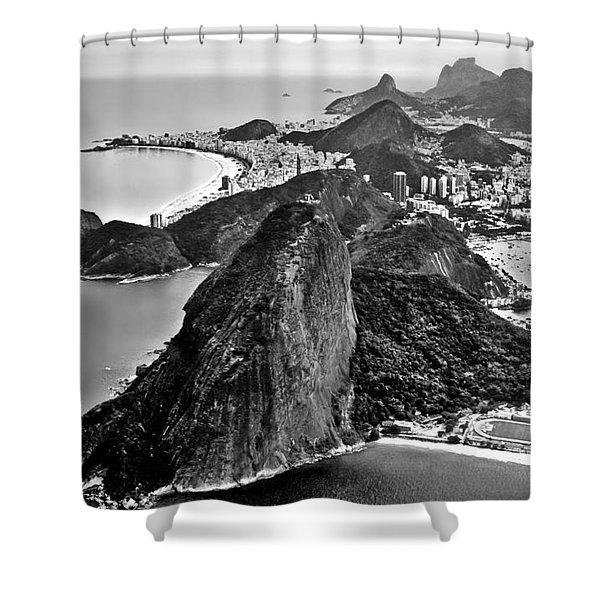 Rio De Janeiro - Sugar Loaf, Corcovado And Baia De Guanabara Shower Curtain